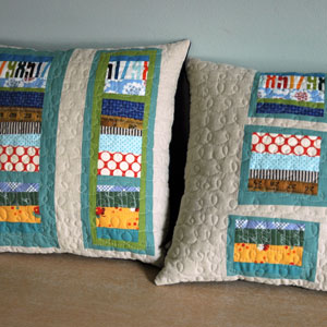 modern patchwork pillows